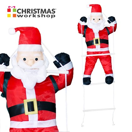 90CM Santa With Ladder Hanging Decoration