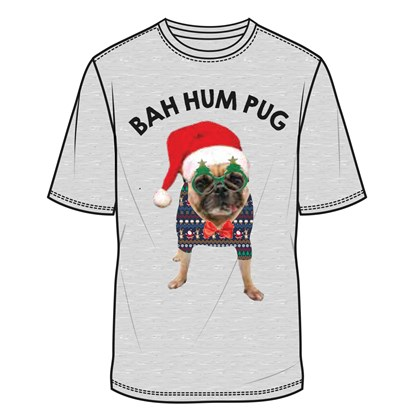 Men Bah Hum Pug T-Shirt