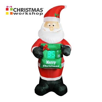 Inflatable Santa With Countdown To Christmas
