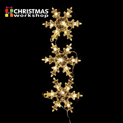 Set of 3 15cm Snowflake Lights