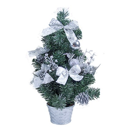 "20"" Silver Poinsettia Tree"