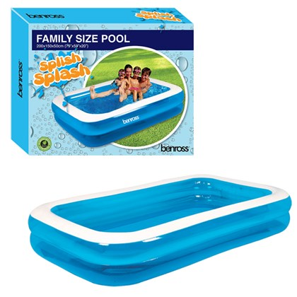 Family Size Rectangular Pool - 79x59x20 Inches