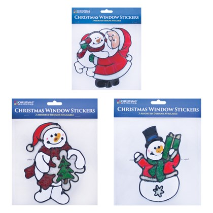 Snowman/Santa Window Gel Stickers