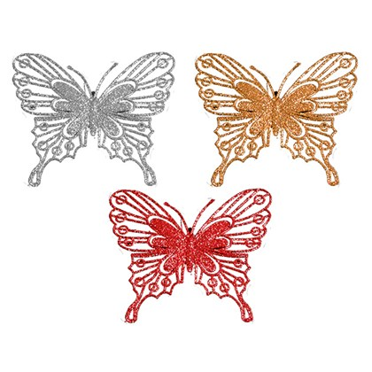 Glitter Butterfly Decoration