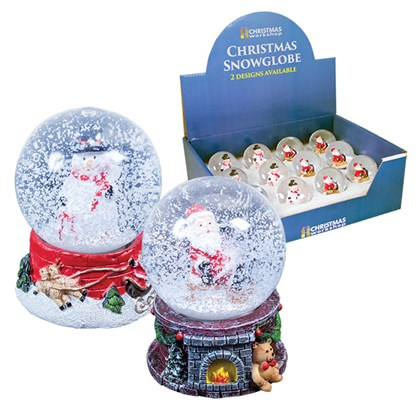 Christmas Snowglobe -2 Assorted Designs