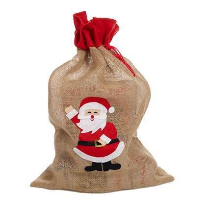 Jute Christmas Sack Applique Design
