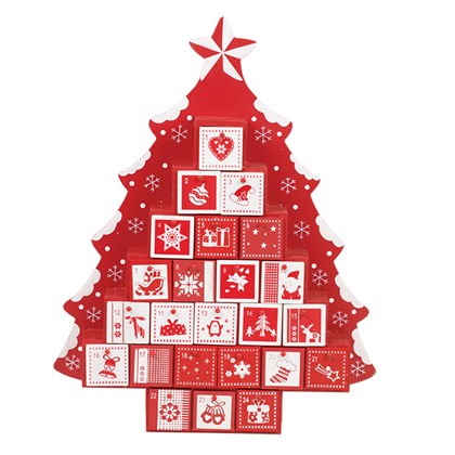 Wooden Advent Calendar Tree Shape