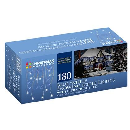 180 LED Icicle Chaser - Blue & White