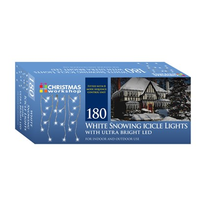 180 LED Icicle Chaser - White