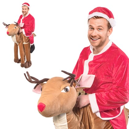 Santa Ride A Reindeer Costume - One Size