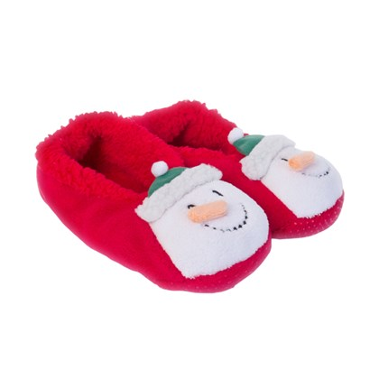 Ladies Snowman Slippers