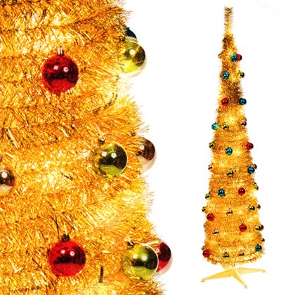 6ft Pop-up Xmas Tree - Gold