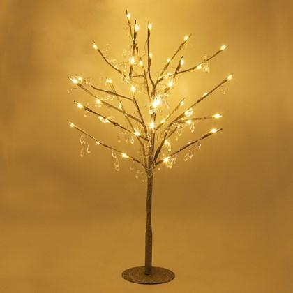 70cm 48LED Glitter Tree W/ Crystal Droplets-W.W