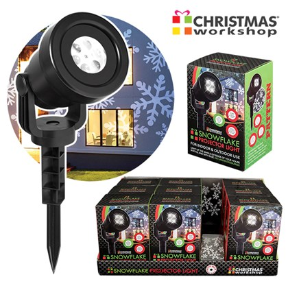 Outdoor 4LED Snowflake Projector Light- Try Me CDU