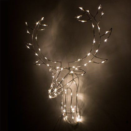 80 LED Stag Head Frame - Bright White