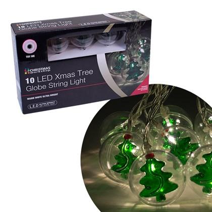 10 LED Xmas Tree Bauble String Light