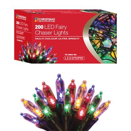 200 LED Fairy Chaser Lights - Multi Coloured