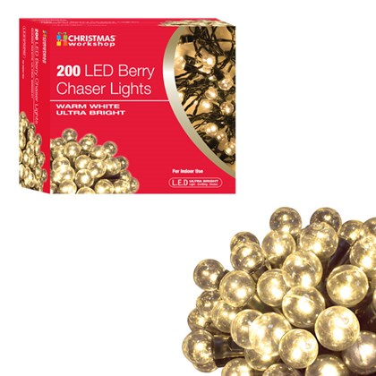 200 LED Berry Chaser Lights - W.White