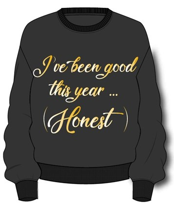 Been Good This Year Ladies Xmas Jumper