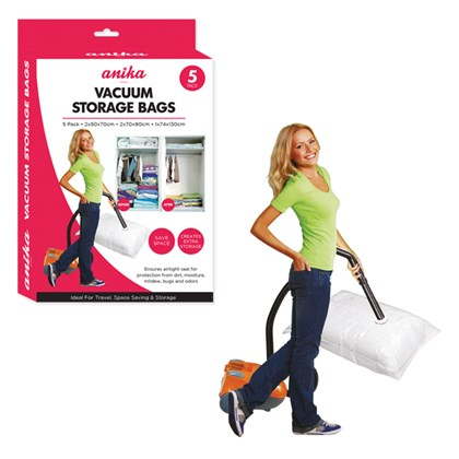 5 Pack Vacuum Storage Bags