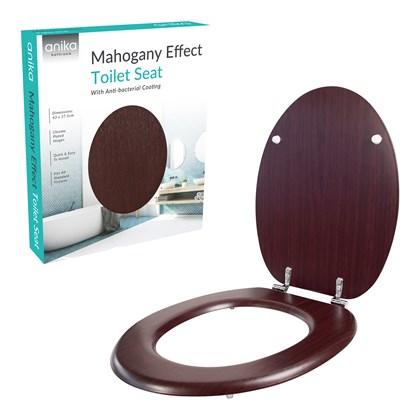 Mahogany Effect Toilet Seat