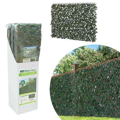 Dark IVY Artificial Willow fence - 260x70cm