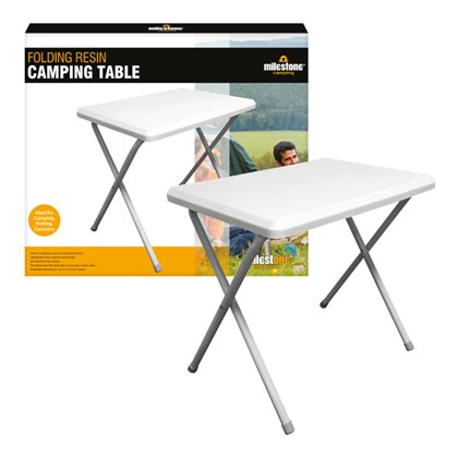 Resin Camping Foldaway Table-White