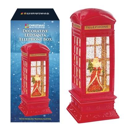 Santa Sparkling LED Telephone Box-Battery Operated