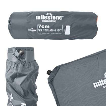 Self Inflatable Mat - 7CM  - Charcoal