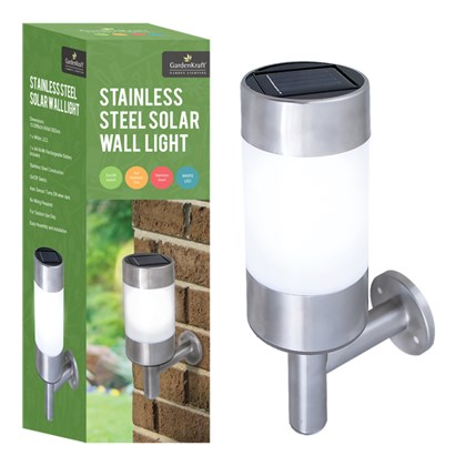 Stainless Steel LED Solar Wall Light