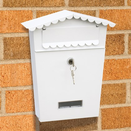 White Post/letter/mail Box