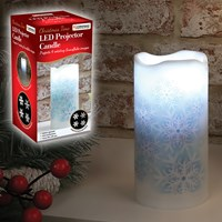 Snowflake LED Projector Candle