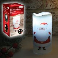Santa LED Projector Candle