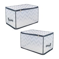 2 Pack Zipped Storage Boxes