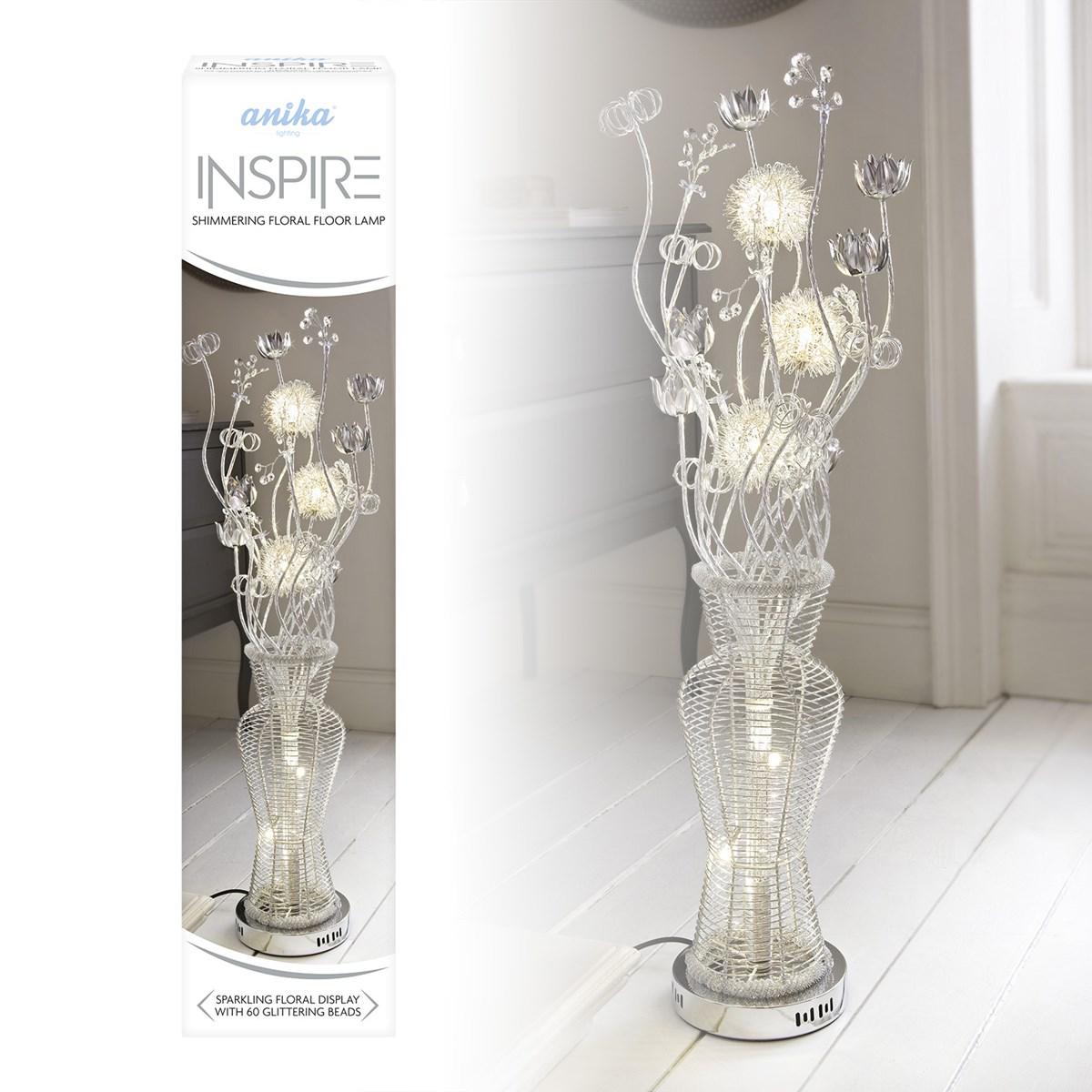 100cm Aluminium Flower Floor Lamp
