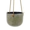 Hangpot vintage groen miniature
