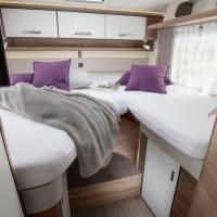 Interiör, sovrum, enkelsängar