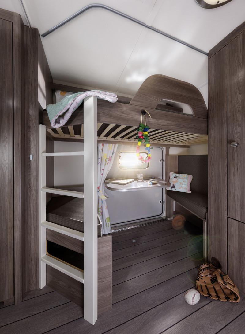 Interiör, sovrum, våningssängar, barnkammare