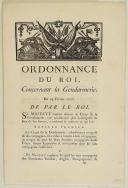ORDONNANCE DU ROI, concernant la Gendarmerie. Du 24 février 1776. 16 pages.