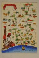 Carte postale mise en couleurs représentant la région du «CÔTE D'IVOIRE». (1)