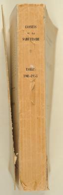 Photo 2 : Colonel de MASCUREAU - Tables 1903-1955 Carnet de La Sabretache