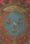GUIDON DU RÉGIMENT CONDÉ-DRAGONS, 1776-1791, ANCIENNE MONARCHIE, RÈGNE DE LOUIS XVI. (4)