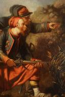 Photo 5 : GUILBERT D'ANELLE HUILE : SCÈNE DE BATAILLE TRÈS CERTAINEMENT DE SÉBASTOBOL, Second Empire.