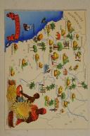 Carte postale mise en couleurs représentant la région du «CÔTE D'IVOIRE».