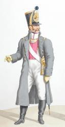 Photo 2 : 1816. Légions Départentales. Sous-Lieutenant de Grenadiers (34e Légion - de l'Indre), Capitaine de Chasseurs (12e Légion - des Bouches du Rhône).