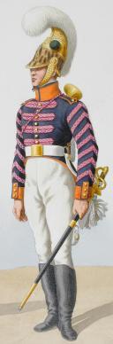 1816. Dragons. Officier (4e Régiment - de la Gironde). Trompette (5e Régiment - de l'Hérault). (2)