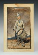 Photo 2 : GEORGES SCOTT (1873-1943), TAMBOUR D'INFANTERIE DE LIGNE RÉVOLUTION : Aquarelle originale.