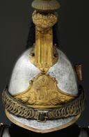 Photo 4 : ENSEMBLE CASQUE ET CUIRASSE DE CUIRASSIERS DE LA GARDE IMPÉRIALE, modèle 1854, Second Empire.