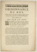 ORDONNANCE DU ROY, portant création d'un régiment de Troupes légères tant à pied qu'à cheval sous le nom de Bretons-Volontaires. Du 30 octobre 1746. 4 pages