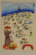 Carte postale mise en couleurs représentant la région du «ALGER».